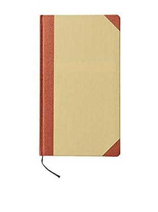 Life Co., Ltd. Crosshatch Paperboard Grid Notebook, Tan/Burnt Siena