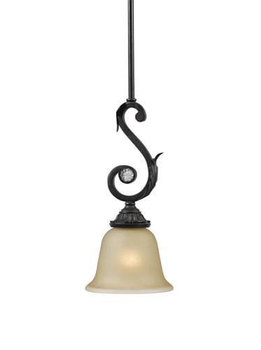 Gold Coast Lighting Wrought Iron Pendant, Dark Rust