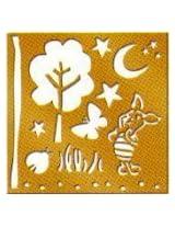 Disney Brass Stencil Template, Piglet, 46620, Winnie The Pooh