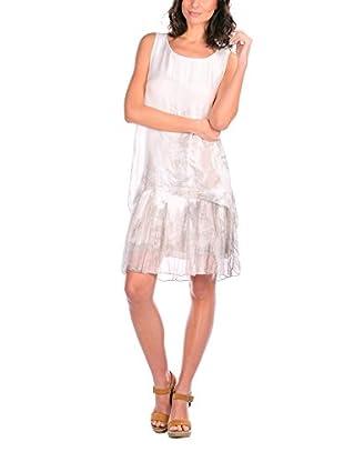 Silk Vestido Seda Blanco / Gris Claro ES 50