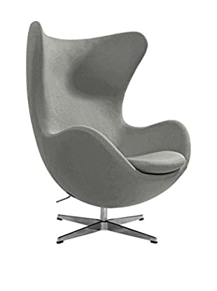 Euro Home Collection Columbia Chair, Light Grey