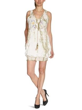 Desigual Vestido corto 22V2212 (Blanco)