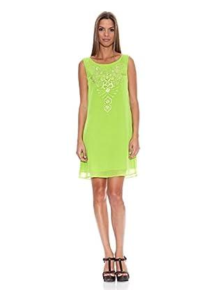 Tantra Vestido Embroidery Straps Flúor (Verde)