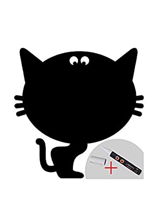 Ambiance Live Wandtattoo Chalkboard funny cat (Includes Liguid Chalk) schwarz