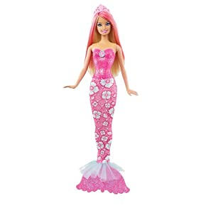 Barbie Fairytale Magic Mermaid Doll, Pink