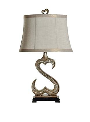 StyleCraft Open Heart 1-Light Table Lamp, Multi