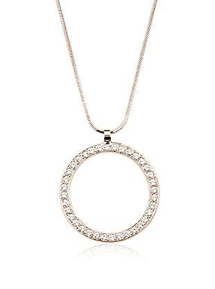 Annie Ram Collar Strass Circle Large Metal Rosado