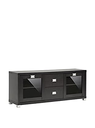 Baxton Studio Foley TV Stand With Drawers & Shelves, Espresso