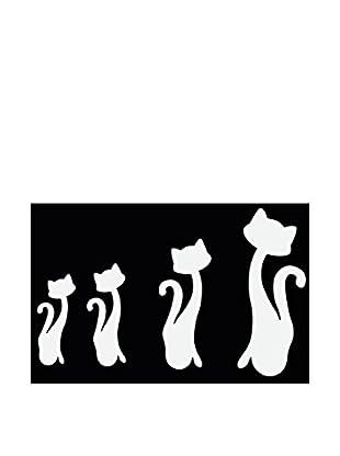 LO+DEMODA Wandtatoo-Spiegel Slim Cats