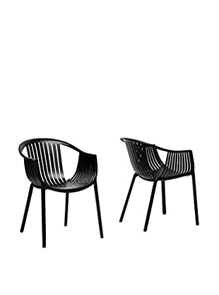 Baxton Studio Set of 2 Grafton Plastic Dining Chairs