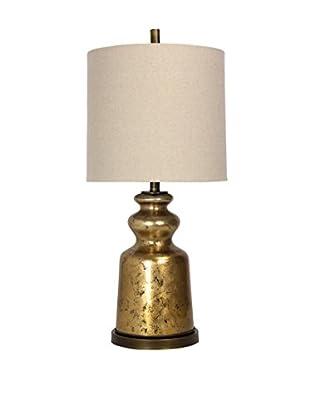 StyleCraft Transitional Glass 1-Light Table Lamp, Gold/Bronze/Natural