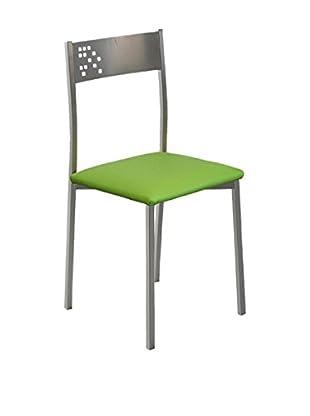 KITCHEN FURNITURE & DECO HOME Stuhl 4er Set grau/grün