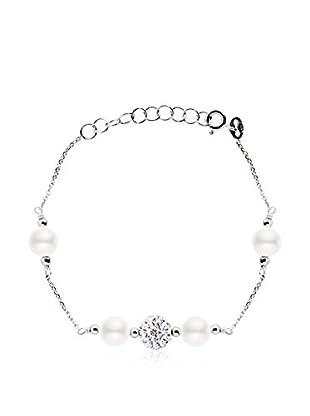 Manufacture Royale des Perles du Pacifique Pulsera 18 cm Blanco 18 cm
