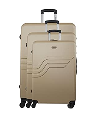 AMERICAN TRAVEL 3er Set Hartschalen Trolley Queens