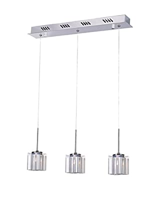 Bel Air Lighting Kuma 3-Drop Pendant, Polished Chrome