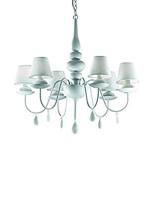 EVERGREEN LIGHTS Lámpara De Araña BLANCHE SP6 Blanco
