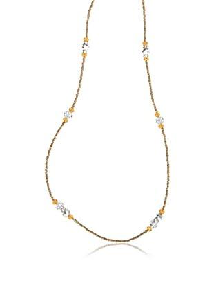 Cortefiel Collar Beads+ Piedra Cris (Amarillo)