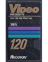 VHS Cassette Recoton 120 (6 Hours)