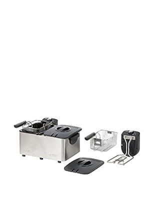 Domo Freidora Eléctrica Doble De 2 X 3 Litros Con 10 Años De Garantía DO453FR