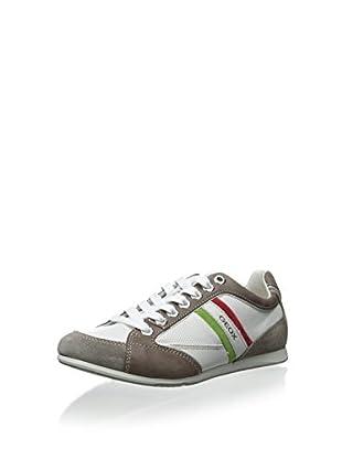 Geox Men's Andrea P Sneaker (White/Taupe)