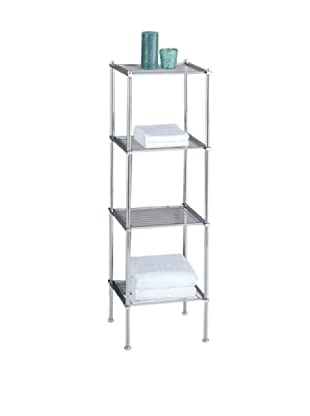 Organize It All Metro 4-Tier Shelf, Chrome