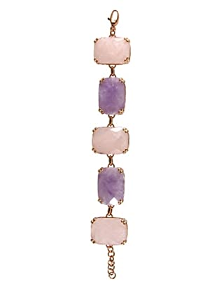 Bronzallure Bracciale Rettangolare rosa/viola