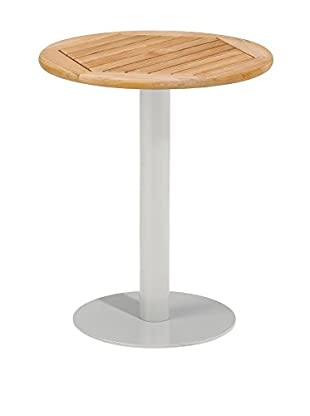 Oxford Garden Travira Bistro Table, Teak/Aluminum