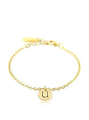 Ettika 18K Gold-Plated U Initial Chain Bracelet