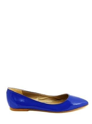 Eye Shoes Bailarinas Puntera Afilada (Azul Eléctrico)