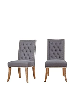 TOV Furniture Garrett Set of 2 Linen Dining Chairs