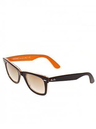 Ray Ban Sonnenbrille Wayfarer RB 2140 schwarz/orange/braun