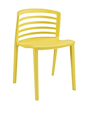 Modway Curvy Dining Side Chair, Yellow