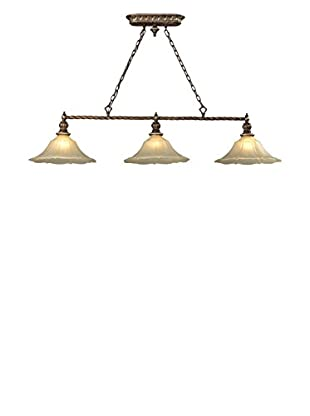 Artistic Lighting Allesandria 3-Light LED Billiard Light, Burnt Bronze/Weathered Gold Leaf