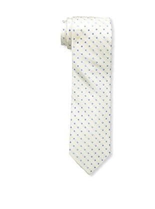 Bruno Piattelli Men's Slim Dotted Tie, Ecru
