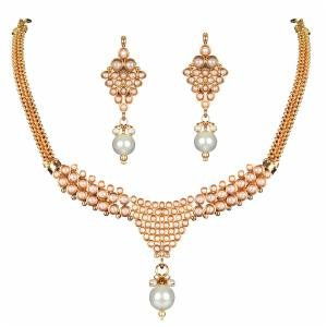 Beautiful White Pearl Necklace Set