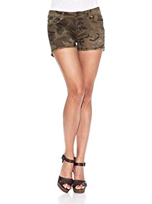 Heartless Jeans Short Pretty Short Heartless Camouflage Caqui (Caqui)