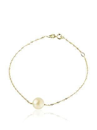 Compagnie générale des perles Braccialetto Oro/Bianco