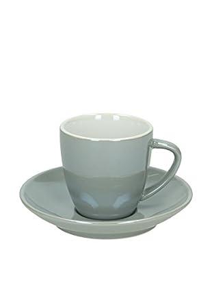 Tognana  Teetasse mit Unterteller 6er Set Colortek grau