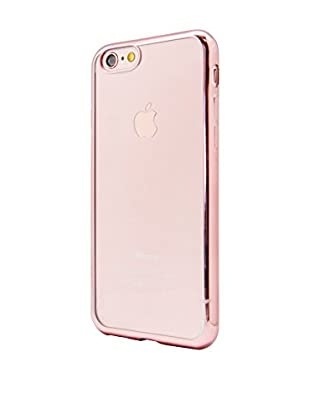 UNOTEC Funda TPU Gel iPhone 7 Color Frame Rosa