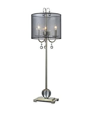 Dimond Lighting Amherst Table Lamp, Silver Leaf Finish