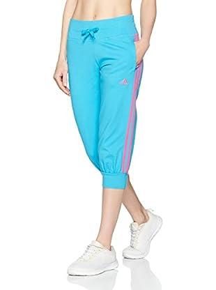 adidas Pantalón de Chándal Ess 3S 3/4 Pant-Bleu Clair