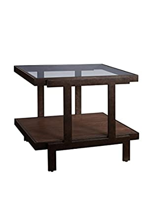 Bassett Mirror Company Beasley Rectangular End Table, Antique Bronze