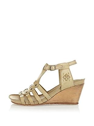 Goldmud Keil Sandalette