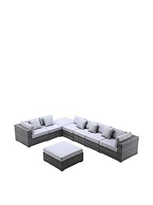 Ceets Slater 8-Piece Outdoor Conversation Set, Mixed Grey/White