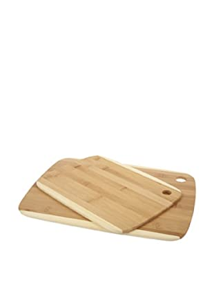 Core Bamboo Classic 2-Tone Cutting Board Combo Pack, Medium/Large