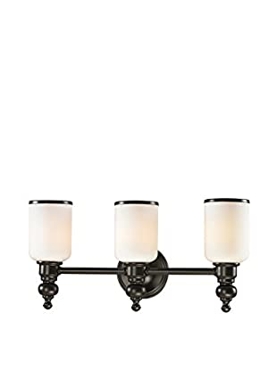 Artistic Lighting Bristol Collection 3-Light LED Bath Bar, Oil Rubbed Bronze
