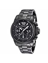 Akribos Black Dial Chronograph Stainless Steel Mens Watch Ak631Bk