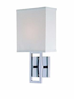 Lite Source Prisca Wall Lamp, Chrome/Off-White