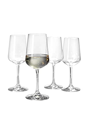 Villeroy & Boch Set of 4 Ovid 12.8-Oz. White Wine Goblets, Clear