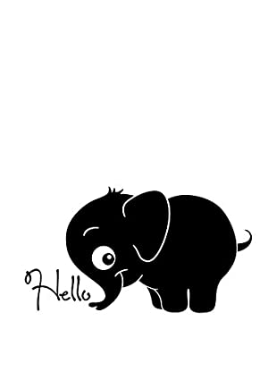 Ambiance Live Wandtattoo Baby Elephant who is welcoming you schwarz